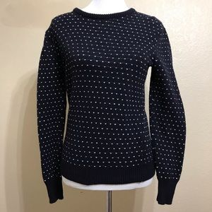& Other Stories Navy Wool Blend Sweater Size Small
